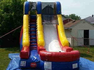 15 foot tall Water or Dry Slide