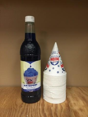 Sno Cone supplies for 50 people - Blue Raspberry