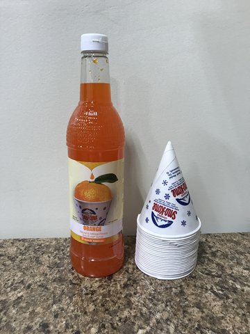 Sno Cone supplies for 50 people - Orange