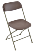 Brown Folding Chairs - Bundles of 10