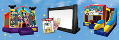 Movie Night Package w/ jumper and popcorn machine