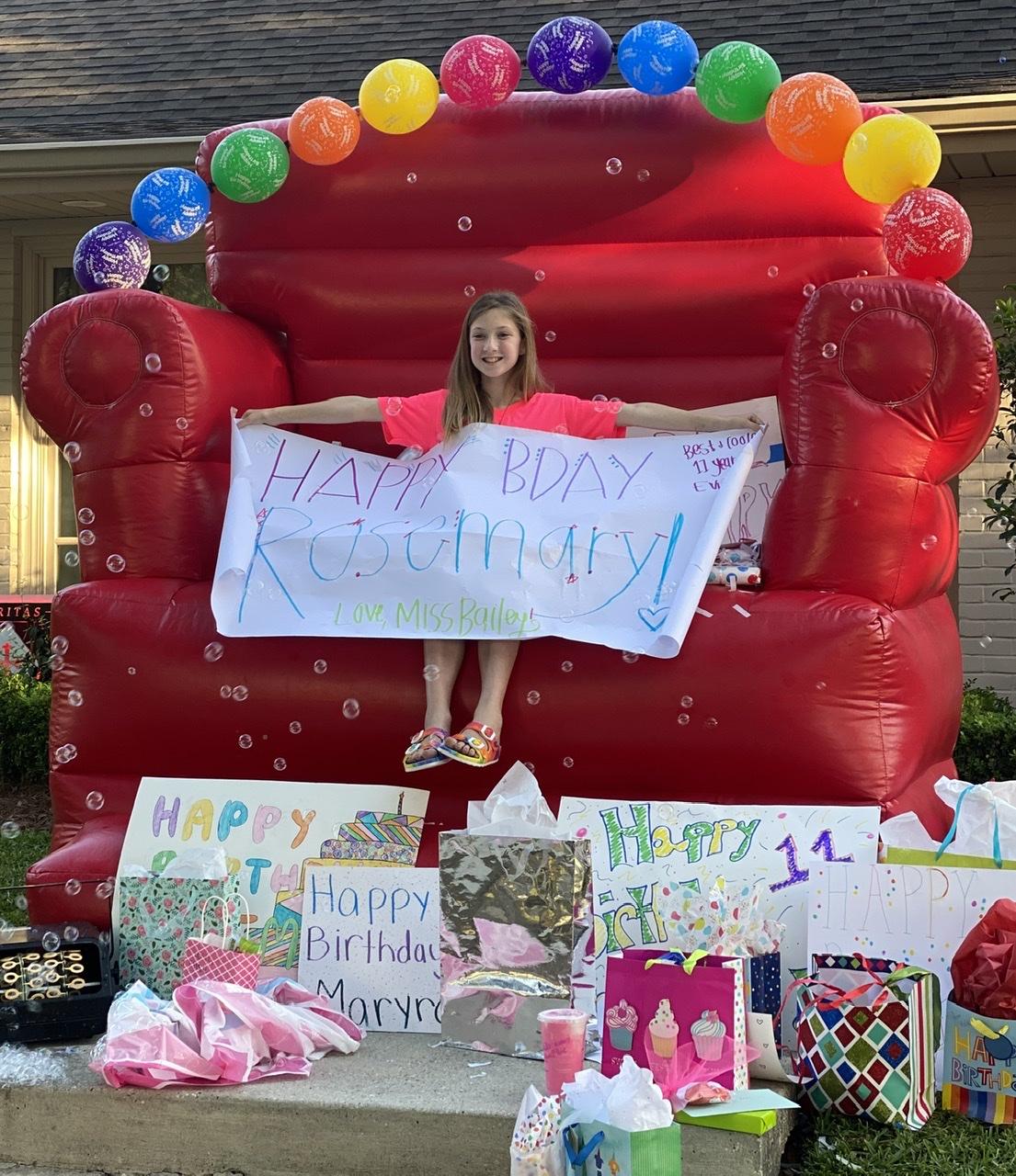 birthday photo chair