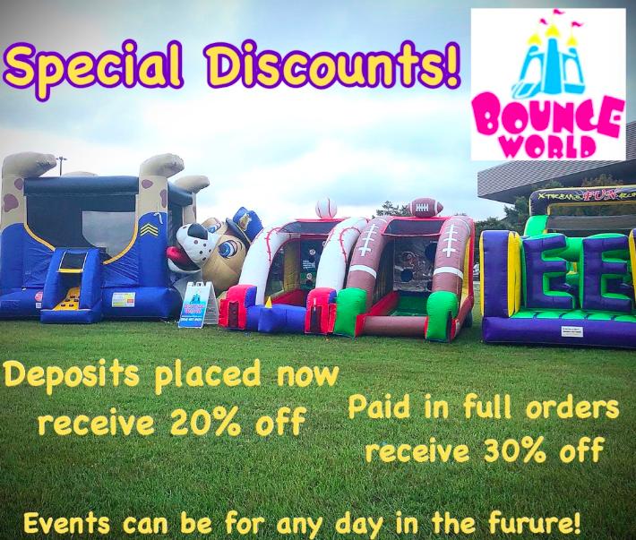 specials on bounces
