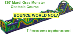 Mardi Gras Monster (125' Obstacle Course)