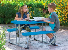 Kid's Blue Bench Table