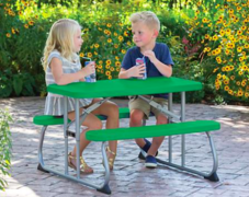 Kid's Green Bench Table