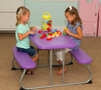 Kid's Purple Bench Table