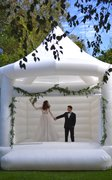White wedding bounce house