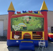 St Patrick's Day bounce house