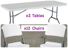 2xTable and 12xChair Package