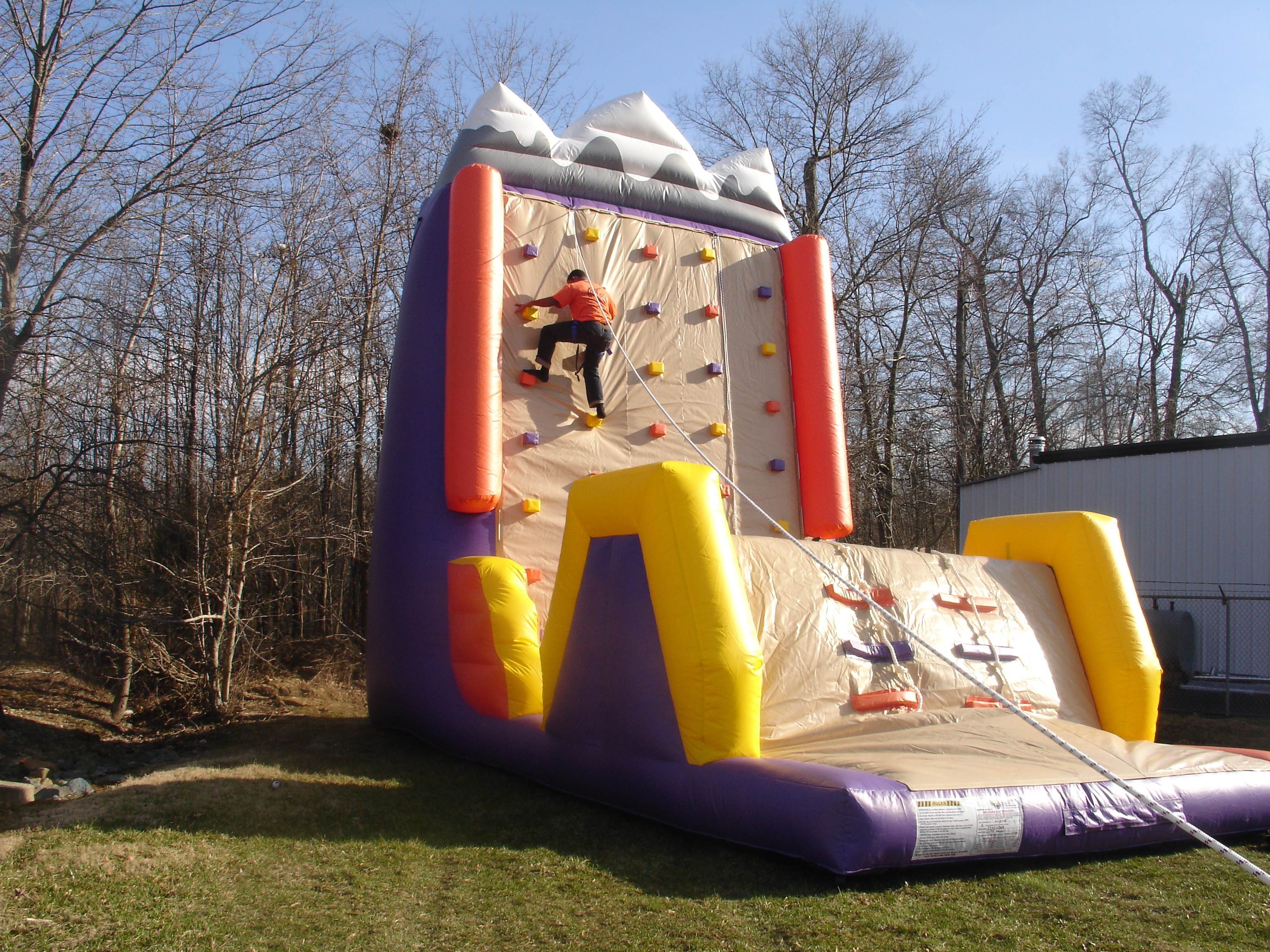 25 Foot Tall Inflatable Rock Wall
