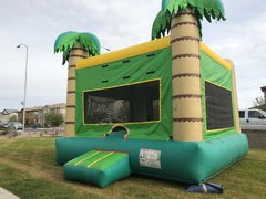 Tropical Palm Bounce House Deluxe
