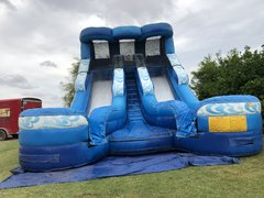 18FT Double Splash Water Slide