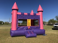 Pink & Purple Bounce Castle- Deluxe