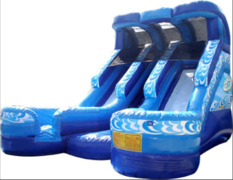 18FT Double Splash DRY Slide