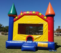 Rainbow Bounce Castle - Deluxe