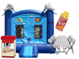 Fall Bounce House with Patio Heater Party  Package