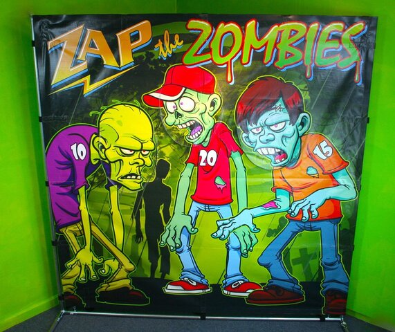 Zap the Zombies Carnival Free Standing Frame Game Rental