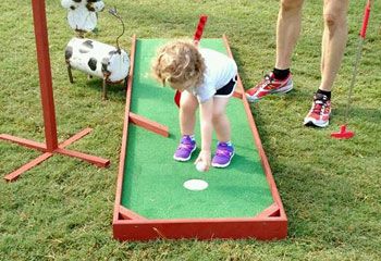 Portable Mini Golf Rental from Carolina Fun Factory