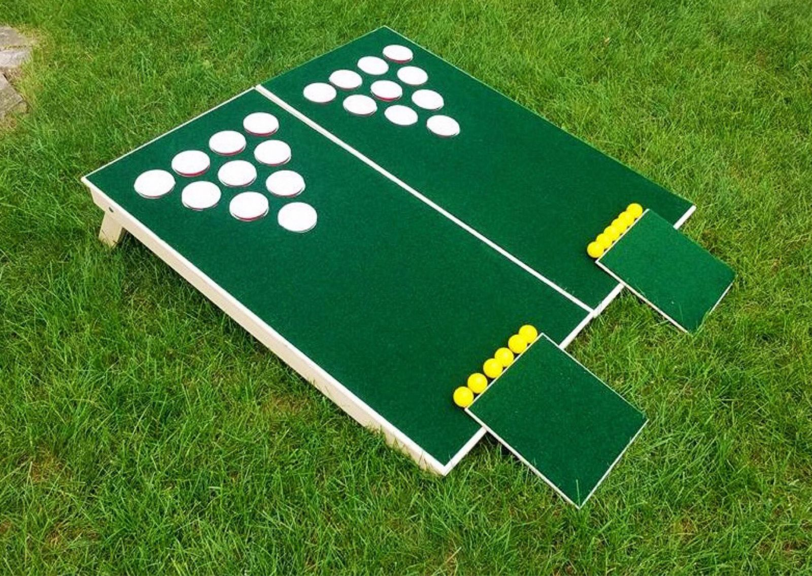 Beer Pong Golf - rent these playing boards for your next tailgating event from Carolina Fun Factory