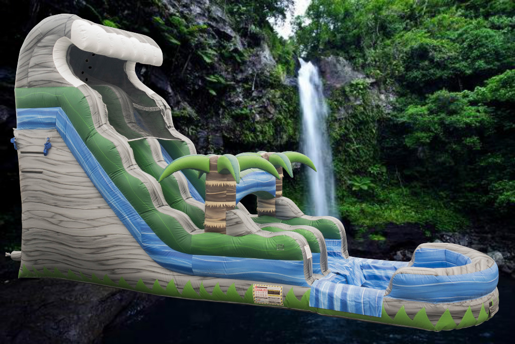 18 foot tall Cascade Crush Water Slide rental from Carolina Fun Factory
