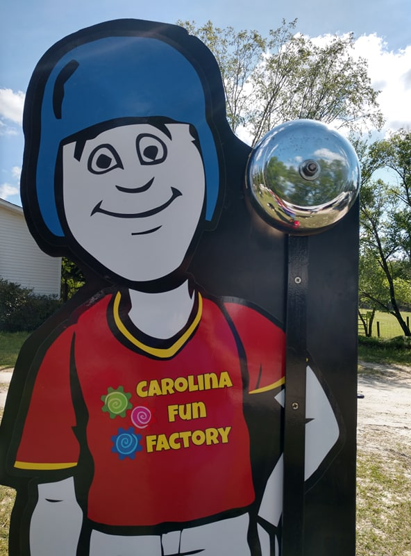 Kid Sized High Striker Game custom made for Carolina Fun Factory