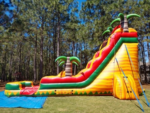 Rent the Tropical Fiesta 22 foot Water Slide from Carolina Fun Factory