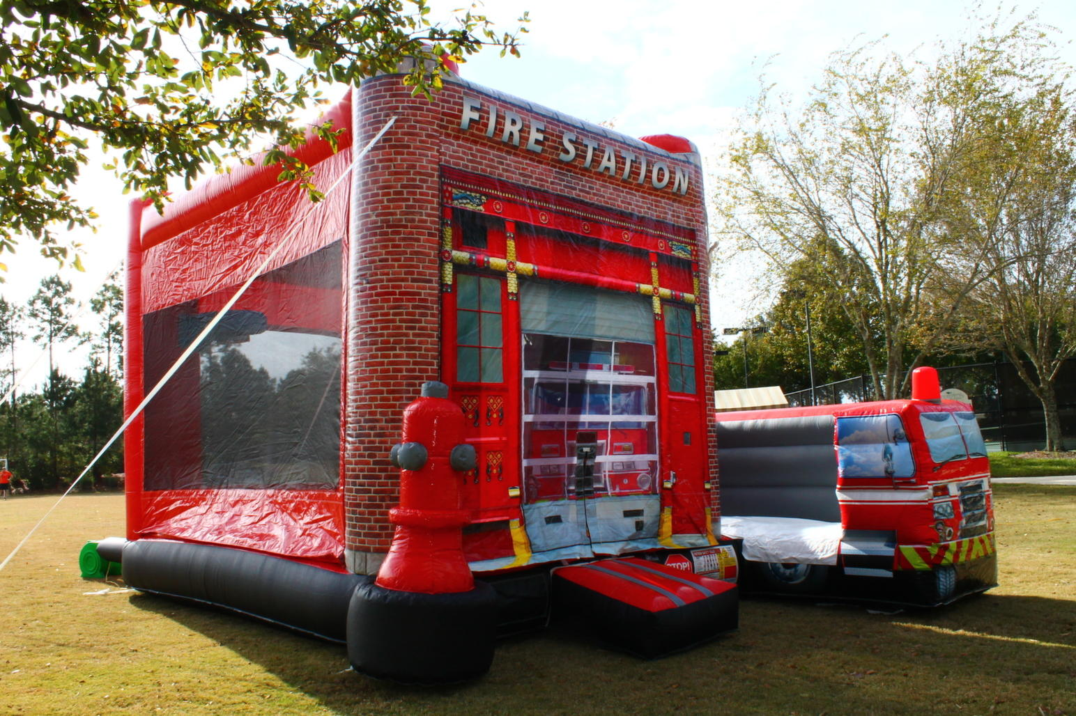 Rent the Fire Station 5-in-1 Combo for your next Touch Truck event or birthday party from Carolina Fun Factory