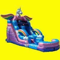 Unicorn Single Lane Water Slide Rental