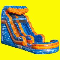 Blue Lave Water Slide Rental 15ft
