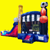 All Star Sports Bounce House with Water Slide and Splash Pad