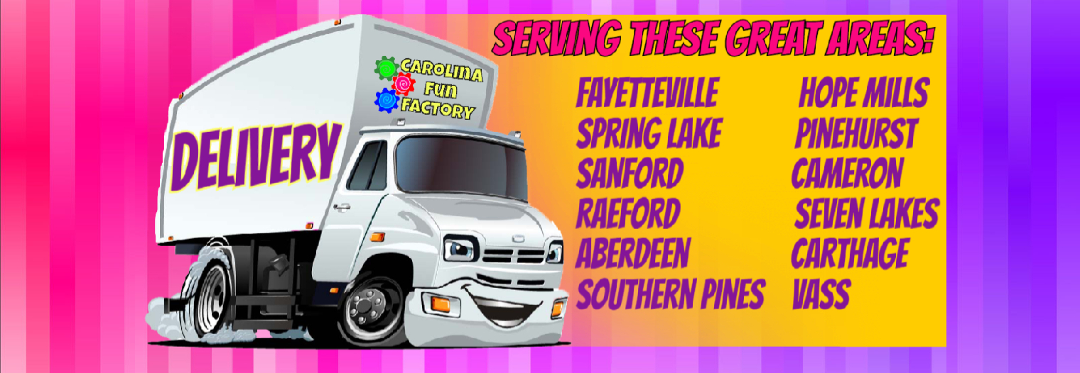 Bounce House and Party Rental Delivery Fayetteville Spring Lake Sanford Raeford Aberdeen Southern Pines Hope Mills Pinehurst Cameron Seven Lakes Carthage Vass
