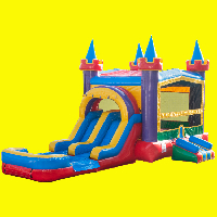 Lucky Bounce House with Double Lane Slide