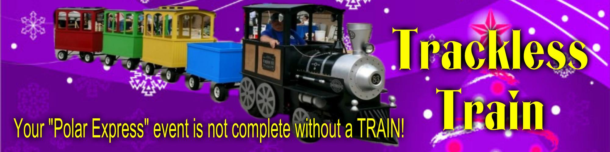 Polar Express Trackless Train Rental NC