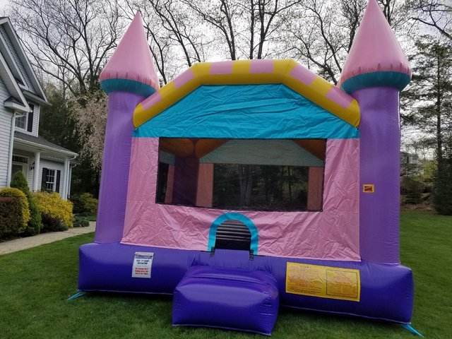 Dazzling Pink and Purple Glitter Bounce Castle