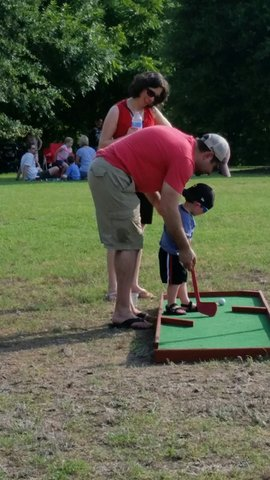 6 Hole Course of Portable Mini Golf