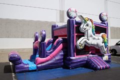 Unicorn Bounce House Combo WET