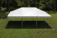 20X40 White Top Commercial Frame Tent Rental