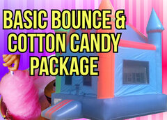 Basic Bounce House and Cotton Candy Party Package