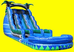 Blue Crush Double Lane Water Slide 22ft