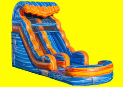 Blue Lava Single Lane Water Slide 15ft