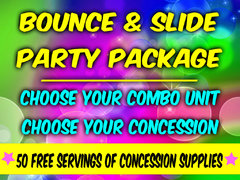 Create Your Own Bounce and Slide Party Package