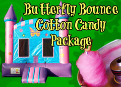 Butterfly Bounce House Cotton Candy Party Package
