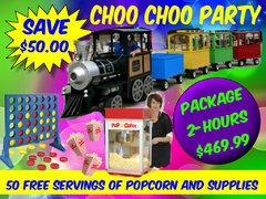 Choo Choo Trackless Train Party Rental Package
