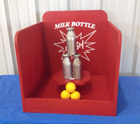 Milk Bottle Bash Carnival Game Rental