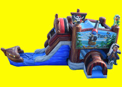 Pirate Ship Bounce And Slide WET