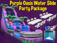 Purple Oasis Water Slide Party Package