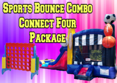 Sports Bounce House and Connect Four Package