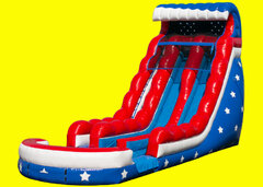 Stars and Stripes Double Lane Water Slide - 18ft