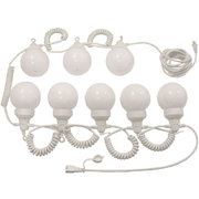 White Tent Globe Lighting Strand